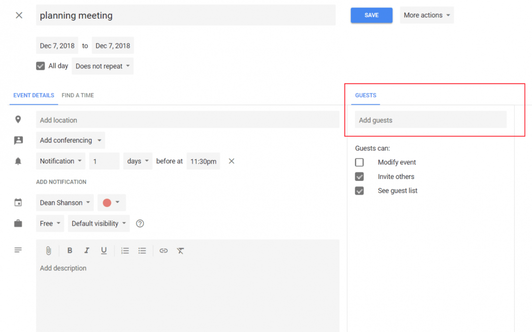 How to invite people to your Google Calendar?