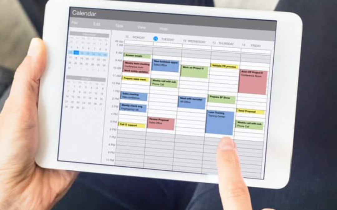 Which tool do you use for a meeting schedule?