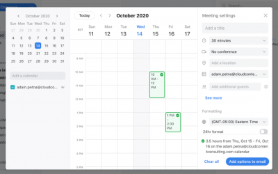 Traditional Email Scheduling vs. Online Scheduling
